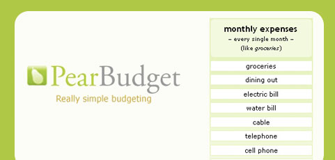 PearBudget: budgeting made peachy